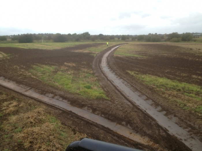 The rotary ditcher was recently used to create wetland conservation areas in Yorkshire