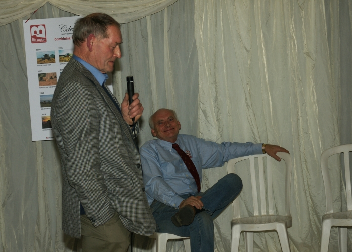 Tony Collier kindly raised a toast to mark 40 years of contracting