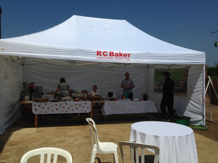 The new RC Baker Ltd marquee full of homemade cakes and refreshments!