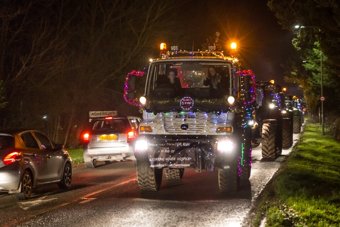 The Unimog leading the festive fleet! Photo courtesy of Matthew Hicks