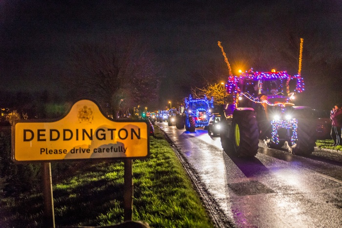 79 tractors travelling through Deddington! Photograph courtesy of Matthew Hicks