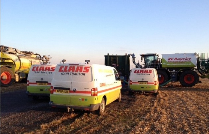 We receive fantastic service support from the boys at CLAAS
