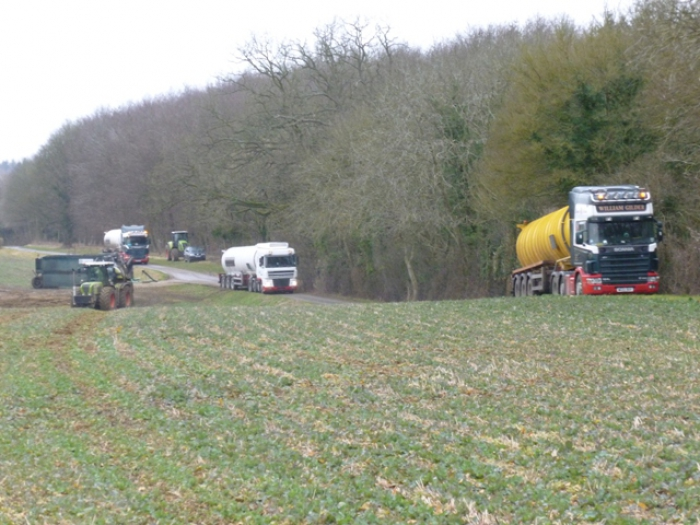 Slurry spreading February 2012