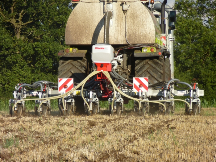 Our Vogelsang Xtill cultivator injector and stocks seeder
