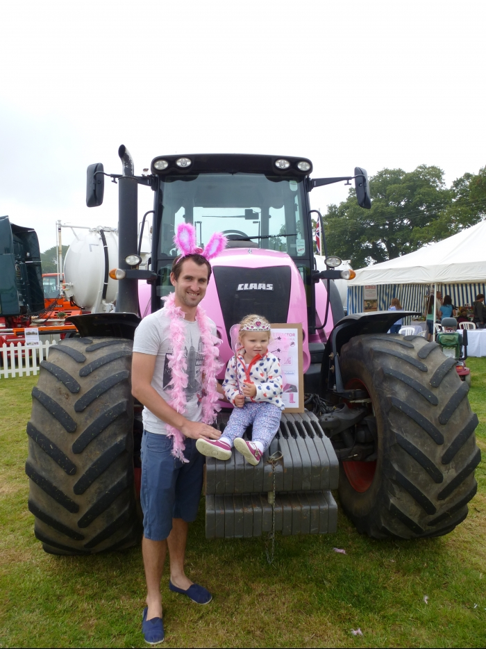 The winners of our pink tractor competition