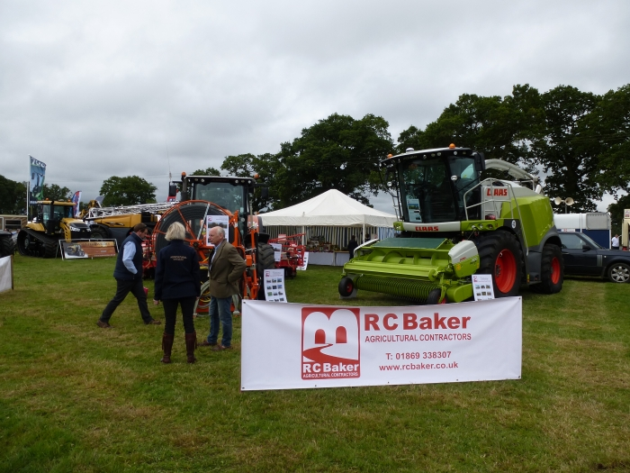 The R C Baker stand flying our brand new logo!