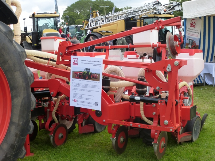 Our Gaspardo 8 Row MTR Precision Drill on display
