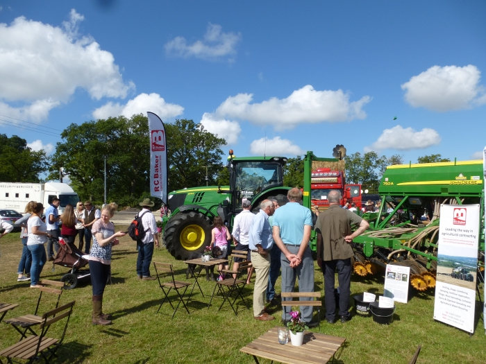 The John Deere drew a lot of attention on our stand!