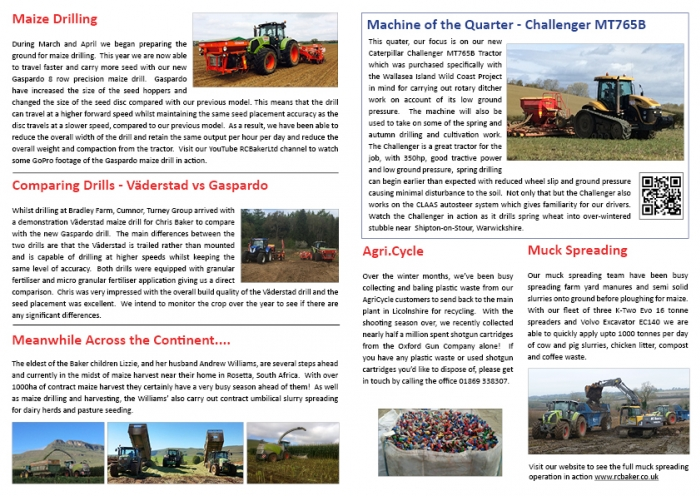 Spring Newsletter 2015 Page 2