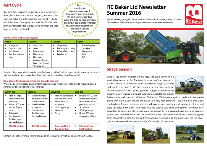 Summer Newsletter 2016 Page 1