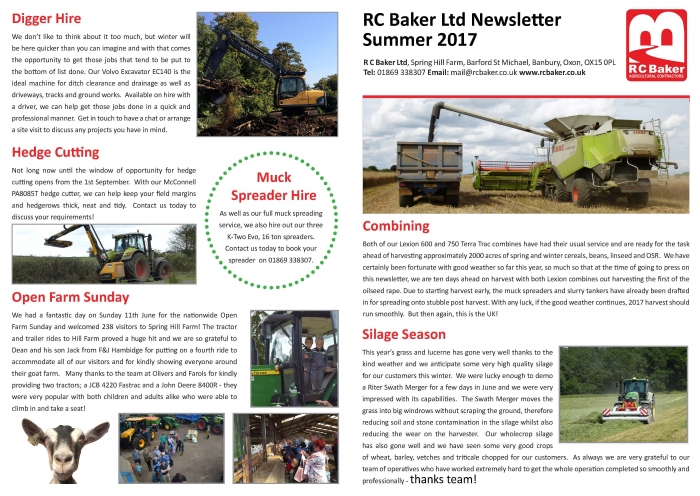 Summer Newsletter 2017 Page 1
