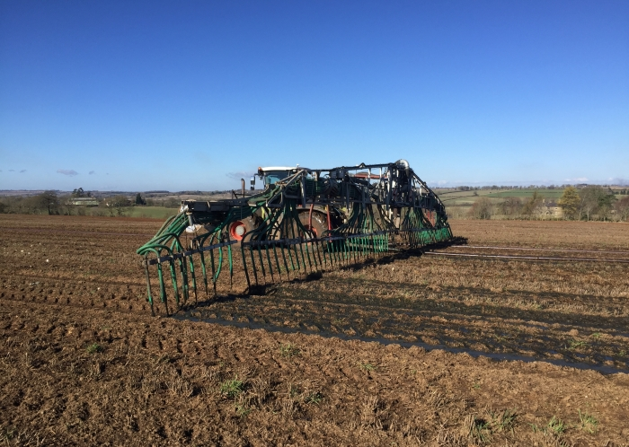 Spreading Slurry with our Umbilical System near Moreton-in-Marsh