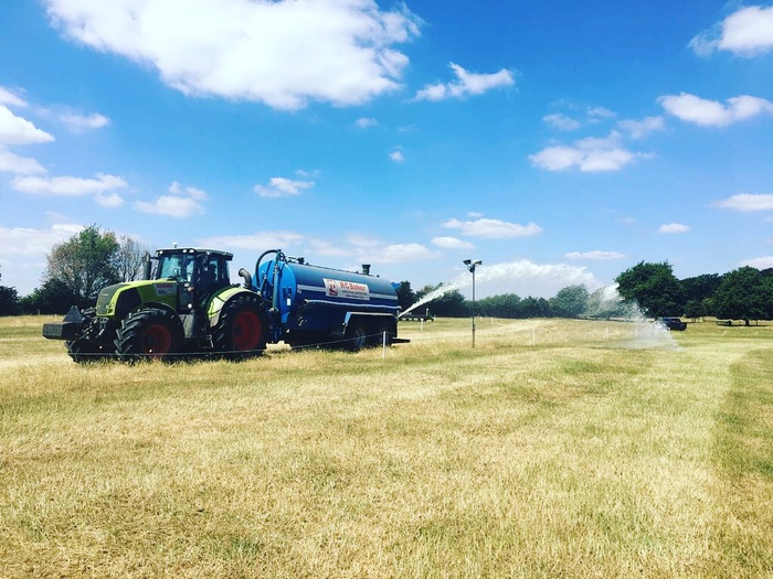 Watering the cross country course for BE Upton Horse Trials with our Abbey Transport Tanks July 2018