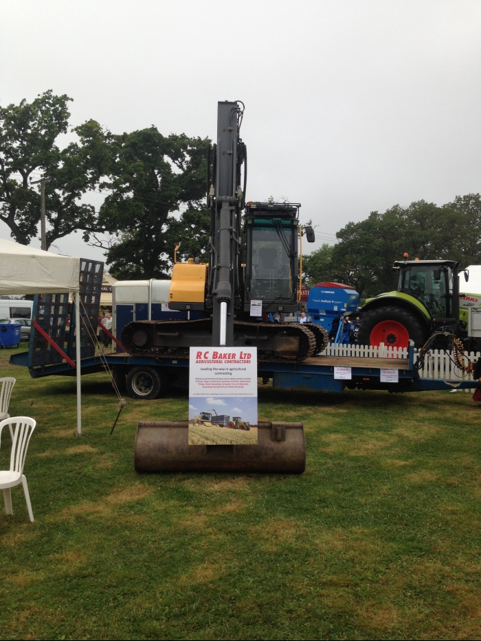 The Volvo Excavator on display