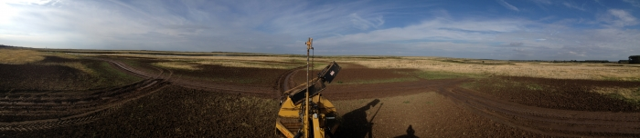 Panoramic view of the foot drains at Burnham Deepdale
