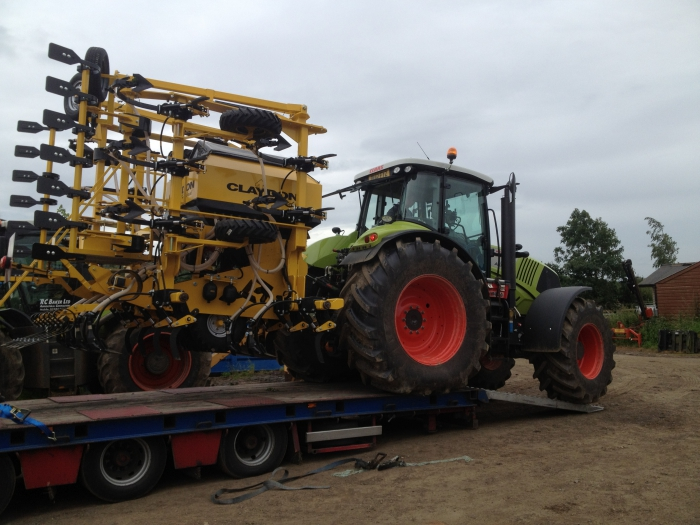 The Claydon 6m Drill arrives at RC Baker Ltd!