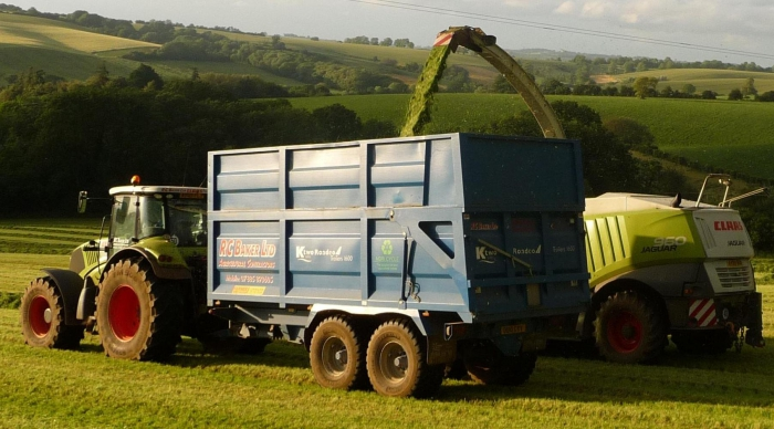A brief break from the rain and silaging is back underway!